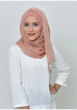 Latte-Chic Mini-BASICS Plain Lite Chiffon