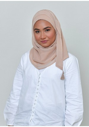 Creme-Chic Mini-BASICS Plain Lite Chiffon