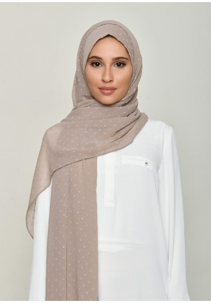 Greige-Free Style with Bokitta Inner-Plain Swiss Dot Chiffon (Include Inner)