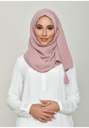Nostalgia Rose-Chic Mini-Plain Swiss Dot Chiffon