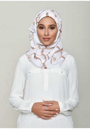 Buckle White-Voila!Mini-Printed HD Georgette