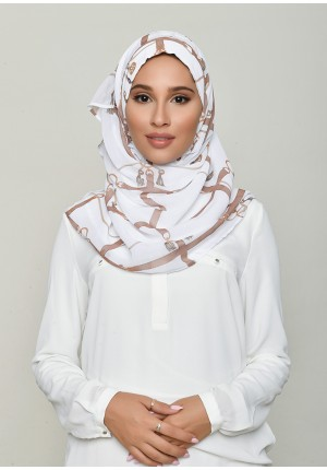 Buckle White-Voila!-Printed HD Georgette