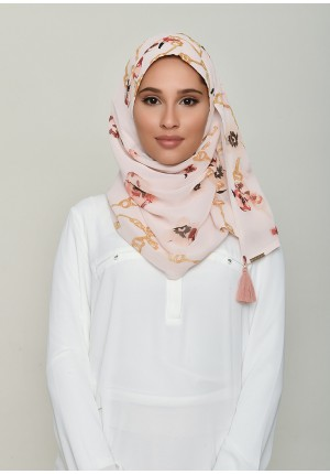 Chains Pink-Chic Mini-Printed Georgette