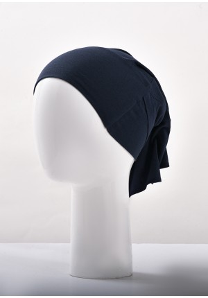 Navy-Two In One-Plain Crepe Chiffon