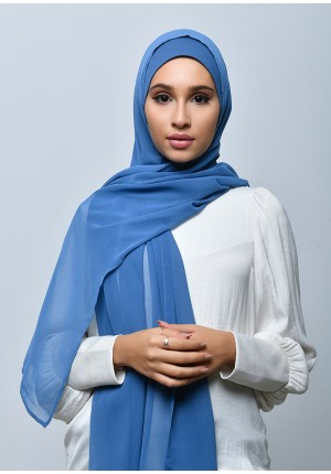 Bluey-Free Style-Plain Crepe Chiffon (include inner)