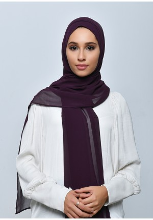 Grapey-Free Style-Plain Crepe Chiffon (include inner)