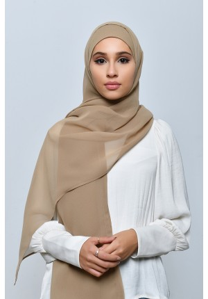 Natural-Free Style-Plain Crepe Chiffon (include inner)