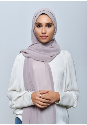 Pink Mist-Free Style-Plain Crepe Chiffon (include inner)