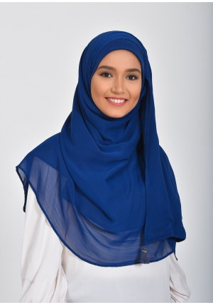 Medieval Blue-Chic!Maxi-Plain Smooth Chiffon