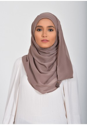 Deep Taupe-Chic!-Plain Smooth Chiffon