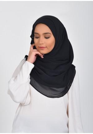 Black Beauty-Voila!Maxi-Plain Smooth Chiffon