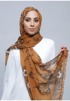 Unity-Free Style with Xinner-Printed Crinkled Chiffon  (Include Inner)