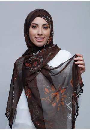 Sincerity-Free Style with Xinner-Printed Crinkled Chiffon (Include Inner)