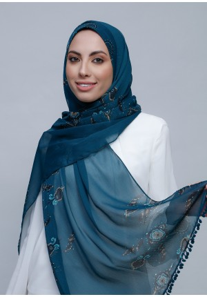 Morality -Free Style with Bokitta Inner-Printed Crinkled Chiffon (Include Inner)