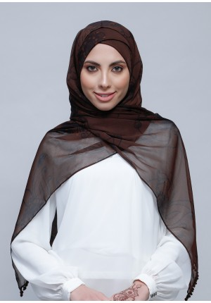 Loyalty-Free Style with Xinner-Printed Crinkled Chiffon (Include Inner)