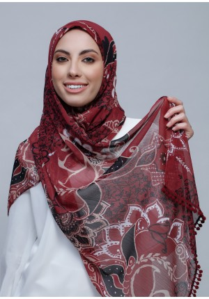 Integrity-Free Style with Bokitta Inner-Printed Crinkled Chiffon (Include Inner)