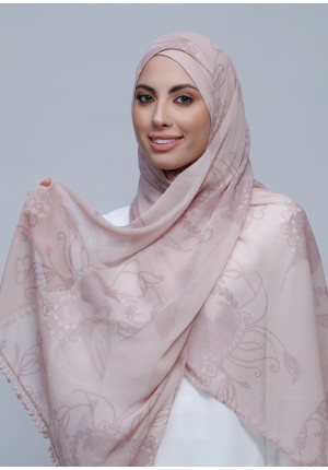 Fidelity-Free Style with Xinner-Printed Crinkled Chiffon (Include Inner)