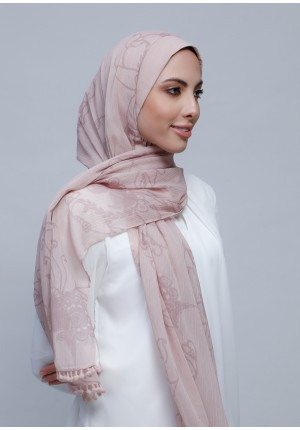 Fidelity-Free Style with Bokitta Inner-Printed Crinkled Chiffon (Include Inner)