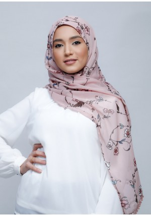 Devotion-Free Style with Bokitta Inner-Printed With Pompoms Crinkled Chiffon