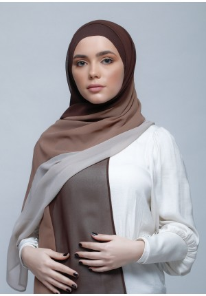 BrownClayGreige-Free Style-Plain Crepe Chiffon