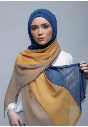 JeansMustardSand-Free Style-Plain Crepe Chiffon