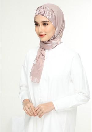 Qawiyya Lilac-Cap Shawl-Printed Flat Georgette