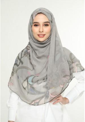 Fariha Army-Chic!Maxi-Printed Smooth Chiffon