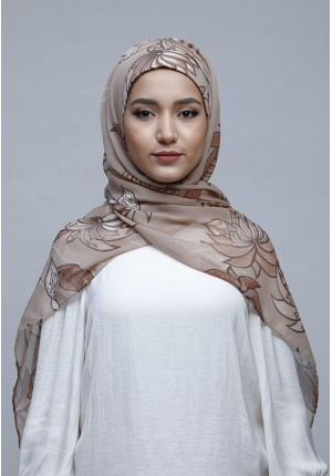 Astrantia-Free Style with Bokitta Inner-Printed Crinkled Chiffon