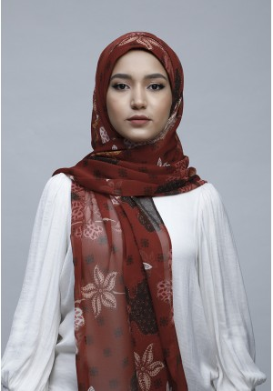 Camilia-Free Style with Bokitta Inner-Printed Crinkled Chiffon
