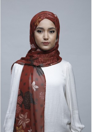 Camilia-Free Style with Xinner-Printed Crinkled Chiffon