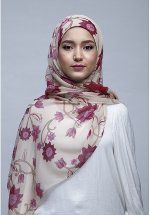 Dahlia-Free Style with Bokitta Inner-Printed Crinkled Chiffon