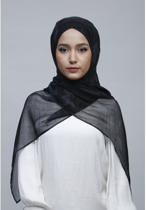 Lotus Night-Free Style with Xinner-Printed Crinkled Chiffon