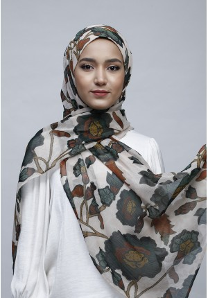 Marigold-Free Style with Bokitta Inner-Printed Crinkled Chiffon