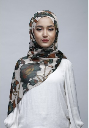 Marigold-Free Style with Xinner-Printed Crinkled Chiffon
