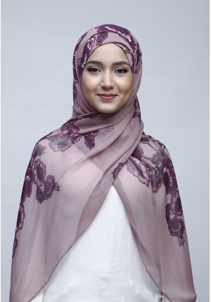 Petunia-Free Style with Xinner-Printed Crinkled Chiffon