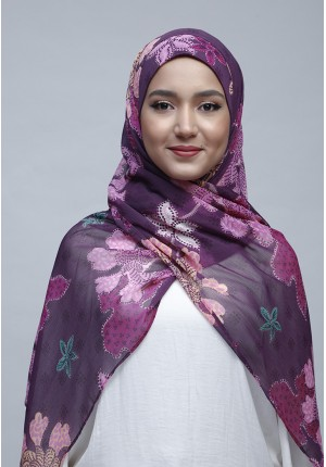 Scabiosa-Free Style with Bokitta Inner-Printed Crinkled Chiffon