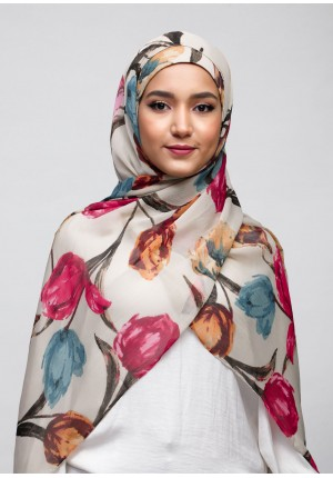 Mother Blooms-Free Style with Bokitta Inner-Printed Crinkled Chiffon
