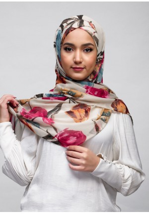 Mother Blooms-Free Style with Xinner-Printed Crinkled Chiffon