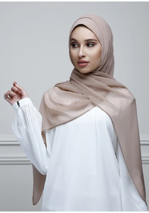 Chai-Free Style-Plain With Crystals Crepe Chiffon