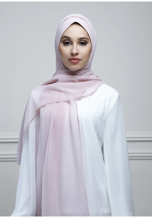 Keepsake Lilac-Free Style-Plain With Crystals Crepe Chiffon