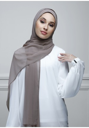 Rosewood-Free Style-Plain With Charms Crepe Chiffon