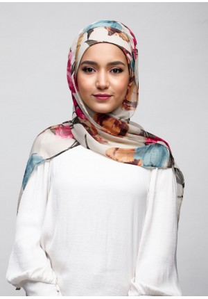 Mother Blooms-Cap Shawl-Printed Crinkled Chiffon