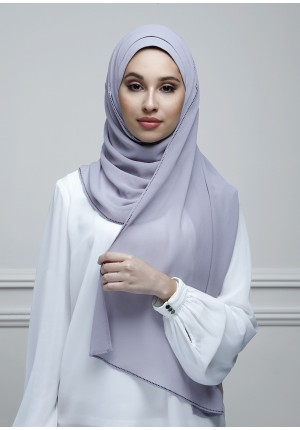 Dusty Lilac-Jolie-Plain With Charms Georgette