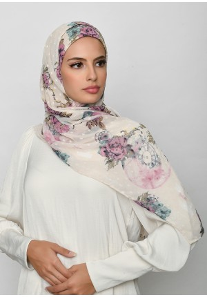 Blast From The Past-Free Style with Bokitta Inner-Printed Mosaic Butti Chiffon
