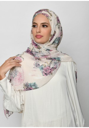 Blast From The Past-Free Style with Xinner-Printed Mosaic Butti Chiffon