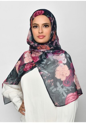 Drawover-Free Style with Bokitta Inner-Printed Crinkled Chiffon