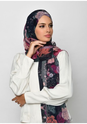 Drawover-Free Style with Xinner-Printed Crinkled Chiffon