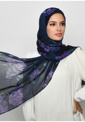 Message From Unknown-Free Style with Bokitta Inner-Printed Crinkled Chiffon