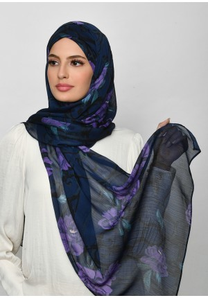 Message From Unknown-Free Style with Xinner-Printed Crinkled Chiffon