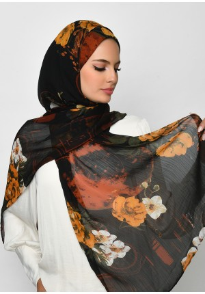 Once Upon A Time-Free Style with Bokitta Inner-Printed Crinkled Chiffon